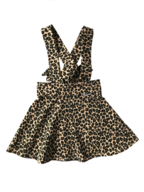 Suspender skirt leopard