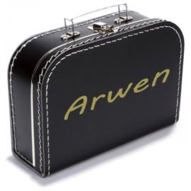 Koffertje met naam - zwart