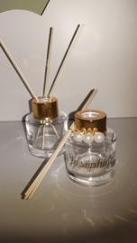 Parfumflesje cylinder - gouden dopje