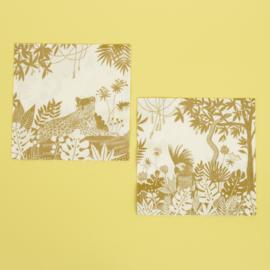 20 servetten Golden Jungle