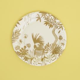 8 kartonnen bordjes Golden Jungle