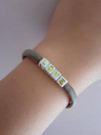 Letterkralen-Armband - elastiek