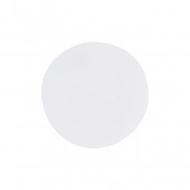 Witte sticker rond