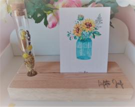 Fotoplankje met bloemenbuisje - liefste Juf