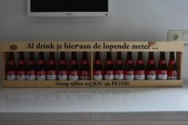 Houten meter bier