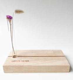 Fotoplankje met bloemenbuisje - Liefste meter
