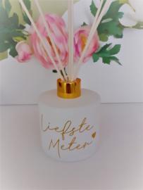 Parfumfles met gepersonaliseerde tekst - wit