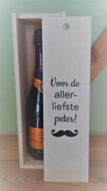 Houten wijnkist - Voor de liefste!