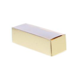 Schuifdoosje met transparant deksel - goud