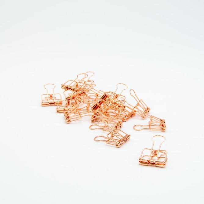 Metalen clip - rosé goud