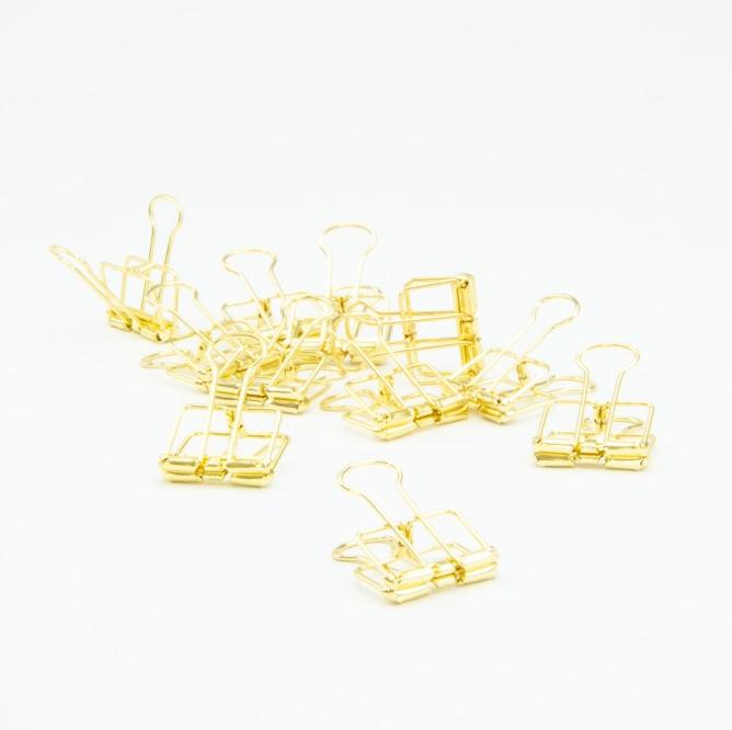 Metalen clip - goud