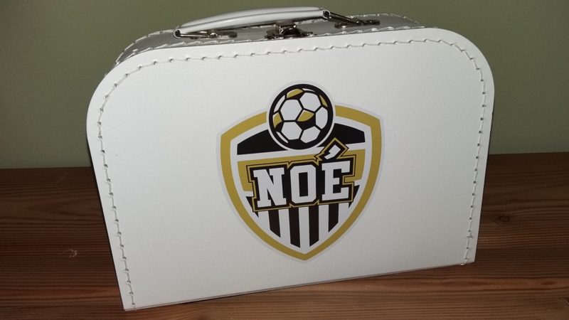 Koffertje met naam - wit