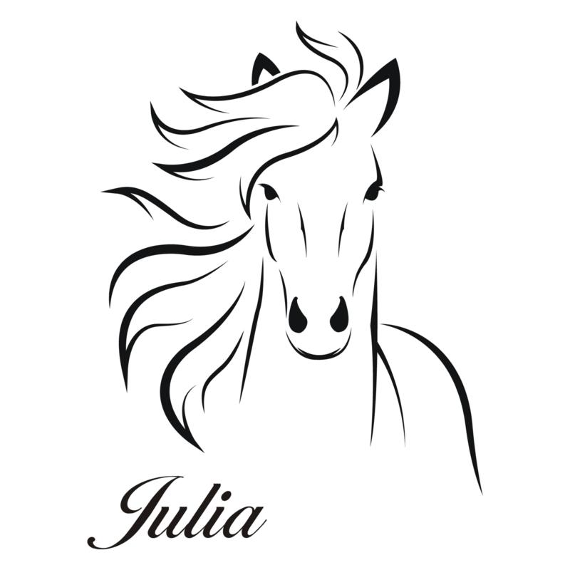 paard met naam sticker muurstickers design with me