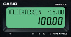 CASIO KASSA SES 100 ZILVER KLEINE LADE