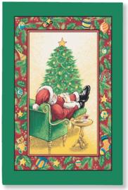 Linnen Theedoek Sleeping Santa - Ulster Weavers