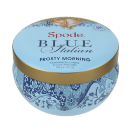 Geurkaars in Blik Frosty Morning (8,9 cm.) - Spode Blue Italian