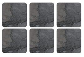 Onderzetters (6) - Pimpernel Midnight Slate