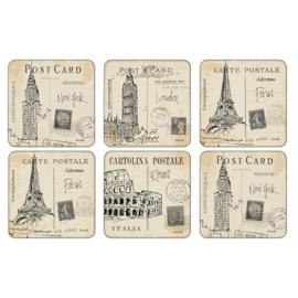 Onderzetters (6) - Pimpernel Postcard Sketches