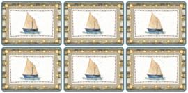6 Placemats (30,5 cm.) - Pimpernel Coastal Breeze