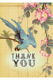 Kaart Thank you Bluebird - Papaya Art