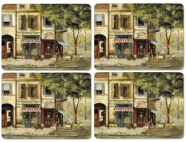4 Placemats Parisian Scenes (40,1 cm.) - Pimpernel