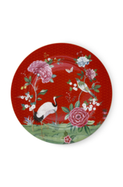 Serveerschotel Blushing Birds Red (32 cm.) - Pip Studio