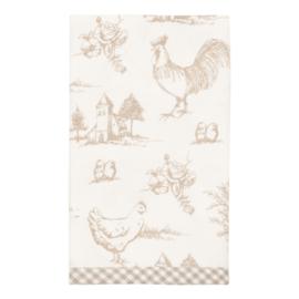 Katoenen Servet Chicken Family - Clayre & Eef