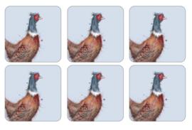Onderzetters Pheasant (6) - Pimpernel Wrendale