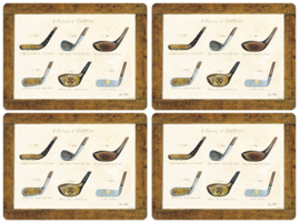 4 Placemats (40,1 cm.) - Pimpernel History of Golf