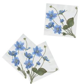 Papieren Servetten Blue Anemone - Koustrup & Co.