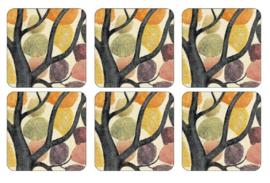 Onderzetters (6) - Pimpernel Dancing Branches