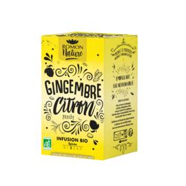 Gingembre Citron Infusion Bio (16 zakjes)  - Romon Nature
