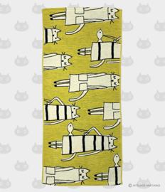 Hand- / Theedoek Cat in New York Yellow (75 cm.) - Atsuko Matano