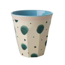 Melamine Beker Watercolor Splash Medium - Rice