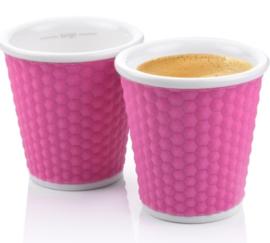 Set 2 Espressobekertjes Honeycomb Rose (10 cl.) - Les Artistes