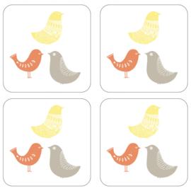 4 Onderzetters Scandic Birds - Pimpernel Catherine Lansfield