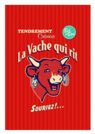 Theedoek La Vache Qui Rit Retro Rouge (75 cm.) - Coucke