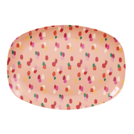 Melamine Bord Coral Dapper Dot (30 cm.) - Rice