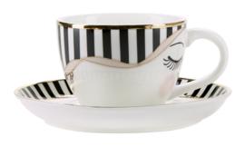 Espressokop & Schotel Eyes & Bow - Miss Étoile