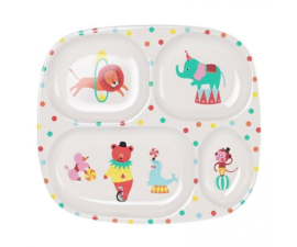 Vakjesbord Melamine A Day at the Circus (25 cm.) - Ginger