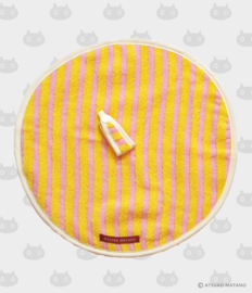 Ronde Handdoek Atarashii Toshi Stripe Pink (32 cm.) - Atsuko Matano