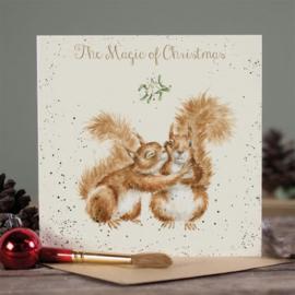 Kerstkaart 'The Magic of Christmas' - Wrendale Designs