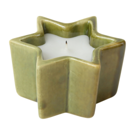 Kaars in Pot Star Green (7 cm.) - Côté Table
