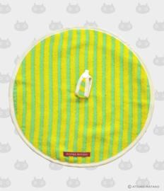 Ronde Handdoek Atarashii Toshi Stripe Green (32 cm.) - Atsuko Matano