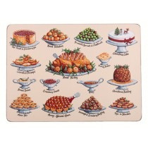 4 Placemats Christmas Feast - Ulster Weavers