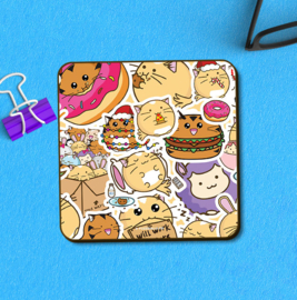 Onderzetter 'Fuzzballs Sticker' - Fuzzballs