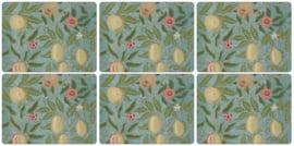 6 Placemats (30,5 cm.) - Pimpernel Fruit Blue