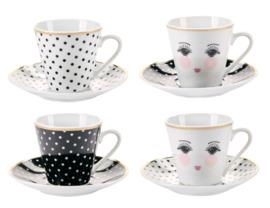 Set Espressokop & Schotels Eyes & Dots - Miss Étoile