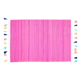 Bamboe Placemat Pink (40 cm.) - Rice