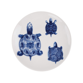 Bord Turtles The Wunderkammer (24 cm.) - Royal Delft